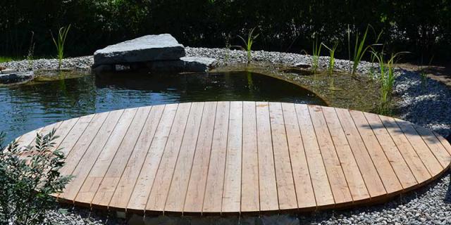Holz Terrasse gebürstet